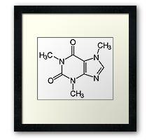 Caffeine molecule :) Framed Print