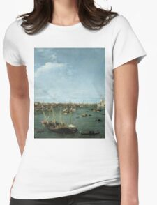 Canaletto Bernardo Bellotto - Bacino di San Marco, Venice about 1738 Womens Fitted T-Shirt