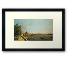 Canaletto Bernardo Bellotto - London - The Thames from Somerset House Terrace towards the City1750 - 1751 Framed Print