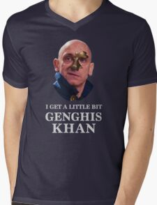 I Get A little Bit Genghis Khan Mens V-Neck T-Shirt