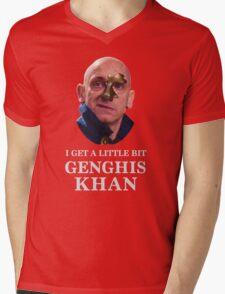 I Get A little Bit Genghis Khan Mens V-Neck T-Shirt