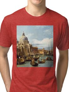 Canaletto Bernardo Bellotto - The Entrance to the Grand Canal, Venice  1730 Tri-blend T-Shirt