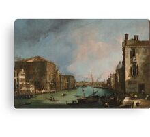 Canaletto Bernardo Bellotto - The Grand Canal in Venice with the Rialto Bridge 1724 Canvas Print