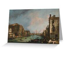 Canaletto Bernardo Bellotto - The Grand Canal in Venice with the Rialto Bridge 1724 Greeting Card