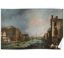 Canaletto Bernardo Bellotto - The Grand Canal in Venice with the Rialto Bridge 1724 Poster