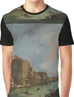 Canaletto Bernardo Bellotto - The Grand Canal in Venice with the Rialto Bridge 1724 Graphic T-Shirt