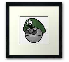 Luigi Pokemon Framed Print