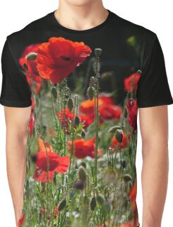 Red Poppies (Rote Mohnblumen) Graphic T-Shirt