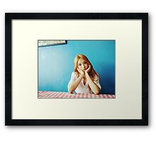 Sistar korean Pop Bora Framed Print