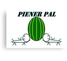 Piener Pal logo white Canvas Print
