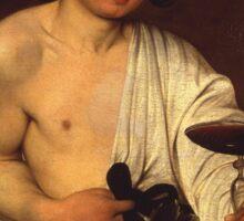 Caravaggio - The adolescent Bacchus 1595 - 1597 Fashion Portrait, Italian  Sticker