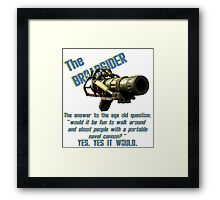 The Broadsider, fallout 4 Framed Print