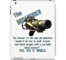 The Broadsider, fallout 4 iPad Case/Skin