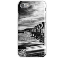 Beach Huts at Mudeford Spit, Christchurch iPhone Case/Skin