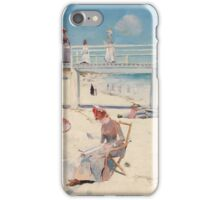 Charles Conder - A holiday at Mentone 1888 Australian Seascape Marine iPhone Case/Skin