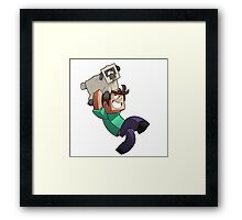 Minecraft Quest Framed Print