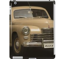retro car on a black background iPad Case/Skin