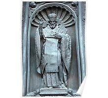 Saint Nicholas the bronze sculpture Poster