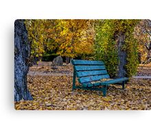 Autumn rest stop Canvas Print
