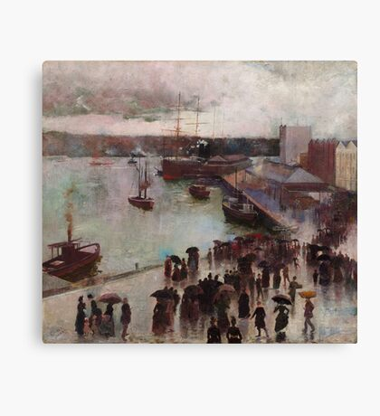 Charles Conder  - Departure of the Orient - Circular Quay , Seascape Marine Canvas Print
