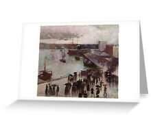 Charles Conder  - Departure of the Orient - Circular Quay , Seascape Marine Greeting Card