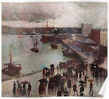 Charles Conder  - Departure of the Orient - Circular Quay 1888 Poster