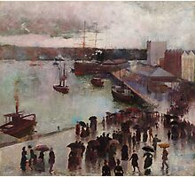 Charles Conder  - Departure of the Orient - Circular Quay , Seascape Marine Photographic Print