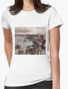 Charles Conder  - Departure of the Orient - Circular Quay , Seascape Marine Womens Fitted T-Shirt