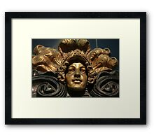 mascaron golden head  Framed Print