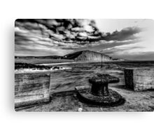Harbour Wall at West Bay Canvas Print