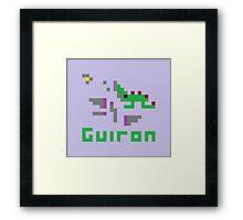 Guiron Pixel Framed Print