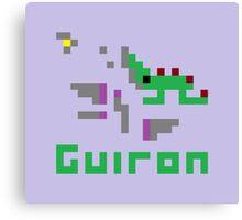 Guiron Pixel Canvas Print