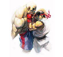 Ryu vs Sagat Photographic Print