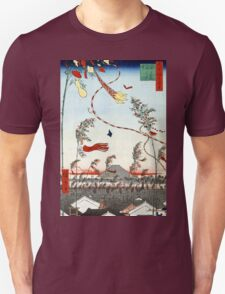 Hiroshige The City Flourishing, Tanabata Festival Unisex T-Shirt