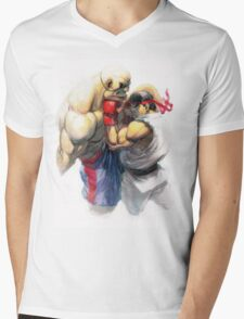 Ryu vs Sagat Mens V-Neck T-Shirt