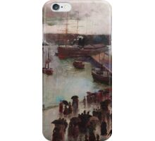 Charles Conder  - Departure of the Orient - Circular Quay , Seascape Marine iPhone Case/Skin