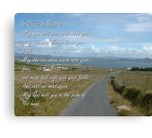 Old Irish Blessing #1 Canvas Print