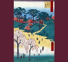 Hiroshige Temple Gardens, Nippori Unisex T-Shirt
