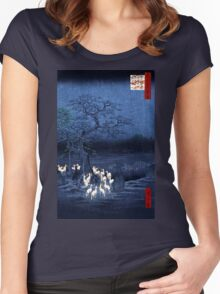 Hiroshige New Year's Eve Foxfires at the Changing Tree, Oji Women's Fitted Scoop T-Shirt