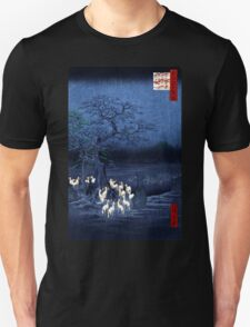 Hiroshige New Year's Eve Foxfires at the Changing Tree, Oji T-Shirt