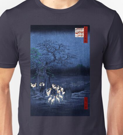 Hiroshige New Year's Eve Foxfires at the Changing Tree, Oji Unisex T-Shirt