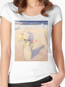Charles Conder  - The hot sands, Mustapha, Algiers 1891 Women's Fitted Scoop T-Shirt