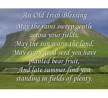 Old Irish Blessing #5 Photographic Print
