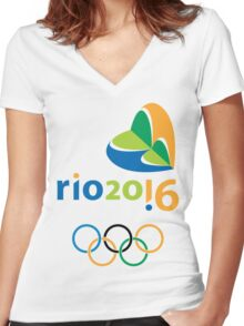 Rio 2016 Women's Fitted V-Neck T-Shirt