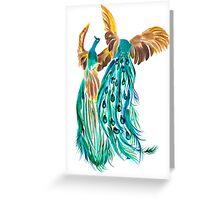 Peacocks Greeting Card