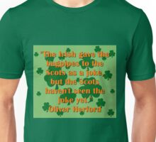 The Irish Gave The Bagpipes Unisex T-Shirt