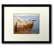 Childe Hassam - Cliff Rock - Appledore ,  American  Impressionism Seascape Marine Framed Print