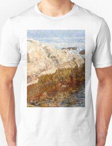 Childe Hassam - Cliff Rock - Appledore ,  American  Impressionism Seascape Marine Unisex T-Shirt