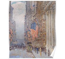 Childe Hassam - Flags on the Waldorf 1916 Poster