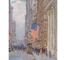 Childe Hassam - Flags on the Waldorf 1916 American Impressionism Landscape Photographic Print